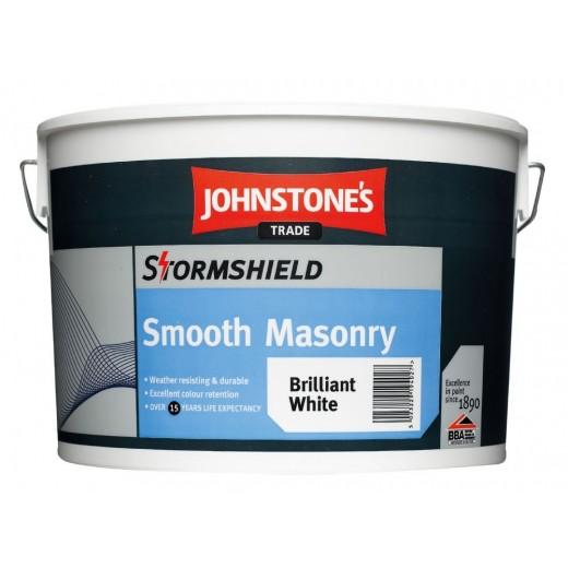 Johnstone's Smooth Masonry Paint - Brilliant White 10 ltr